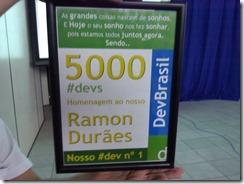 Ramon Durães, placa 5000 membros DevBrasil