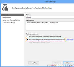 Visual Studio Cloud Load Testing