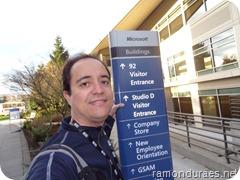 `Ramon Durães no Campus da Microsoft durante o MVP Summit 2013 (EUA)