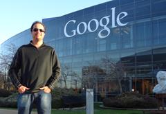 Ramon Durães em visita ao campus do Google em Mountain View na Califórnia