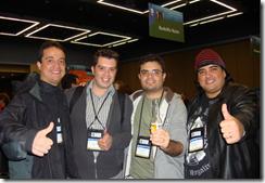 (Ramon, Andrey, Tarifa, Facunte) no MVP Summit 2009 nos EUA
