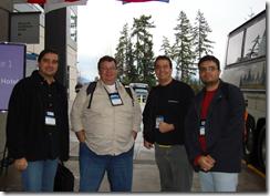Fábio, Mauro, Ramon, Tarifa no campus da Microsoft em Redmond durante o MVP Summit 2009 nos EUA