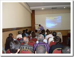 Ramon Durães palestrando na ASSESPRO Bahia sobre gerenciamento de projetos ágeis usando SCRUM.