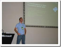 Ramon Durães palestrando Microsoft Teched Brasil 2010 Team Foundation Server