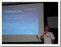 Ramon Durães palestrando no WebDay em São Paulo DevBrasil