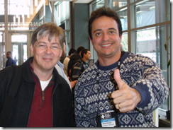 Anders Hejlsberg e Ramon Durães na Microsoft em Redmond