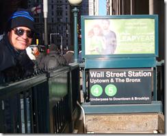 Ramon Durães na Wall Street Station em New York