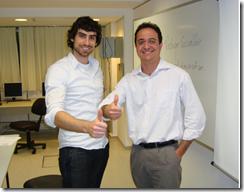 Naysawn Naderi e Ramon Durães durante treinamento de Test Manager 2010 na Microsoft