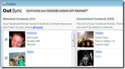 OutSync integra Facebook e Outlook